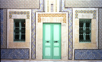 House facade with ceramic tiles - Sousse